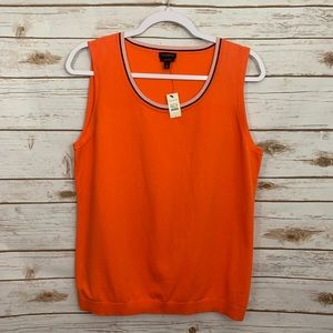 Talbots Orange Sleeveless Sweater Vest NWT